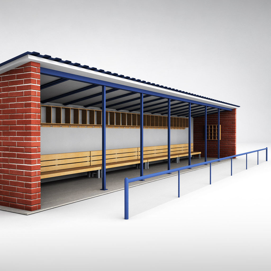 Tremendous Baseball Stadium Dugout Bench 3D Model Ocoug Best Dining Table And Chair Ideas Images Ocougorg