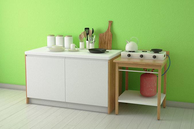 kitchen ware set 3d model max 1