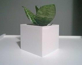 3D print model 003f - Planter - Medium Cuboid -