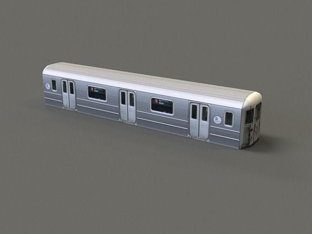 3d Model Subway Car R62 Cgtrader