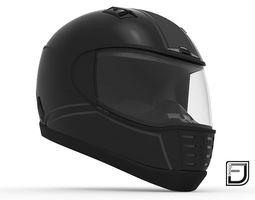 protection Black Helmet 05 3D model