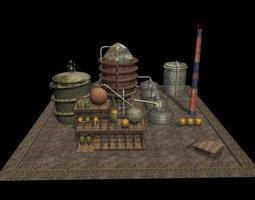 Oil Factory 3D model