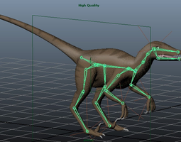 3d print model velociraptor
