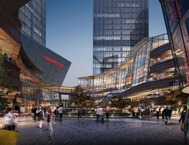 Modern Mall Interior 3d Model Cgtrader