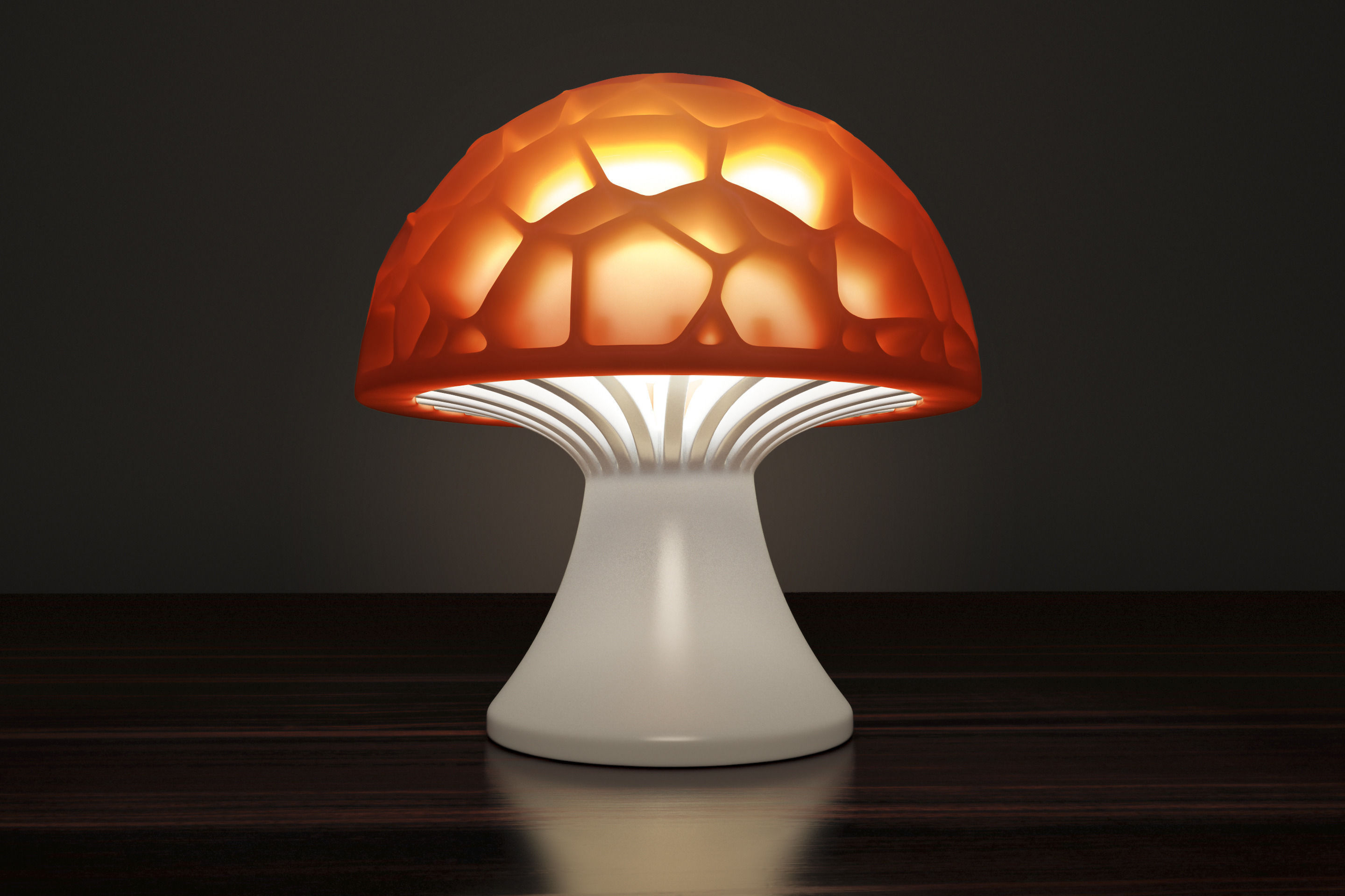 Generative design Voronoi mushroom lamp high quality version
