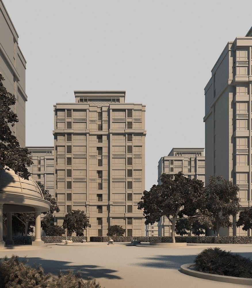 3d Model House Building Residential