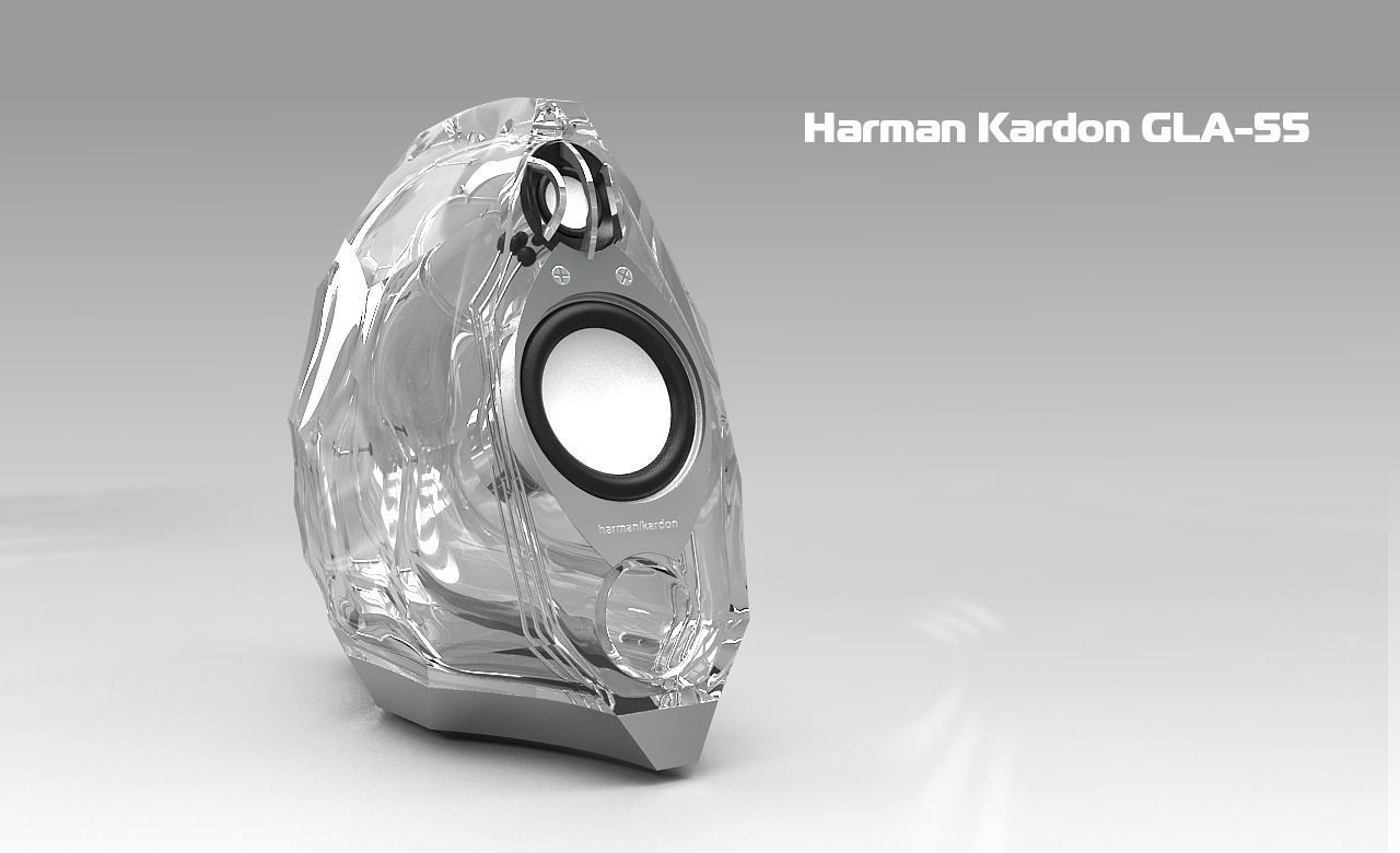 Harman Kardon GLA-55 speakers 3D model | CGTrader
