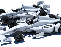 3d model indycar chevrolet road and oval aero kit