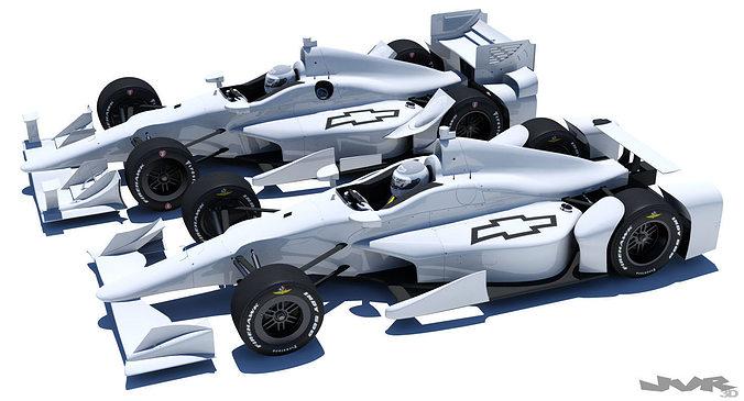 indycar chevrolet road and oval aero kit 3d model max obj 3ds fbx mtl pdf 1