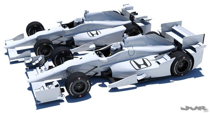 indycar honda road and oval aero kit 3d model max obj 3ds fbx mtl pdf 1