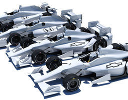 Indycar road and oval aero kit 3D Model