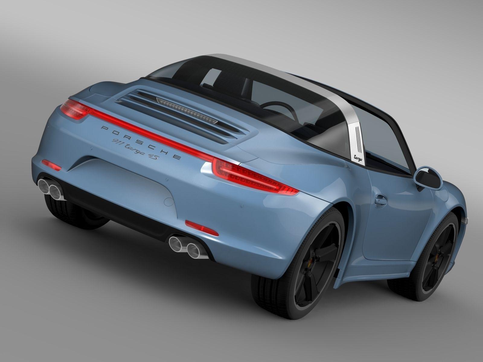 911 Targa 4S >> Porsche 911 Targa 4s Exclusive 2015 3d Model