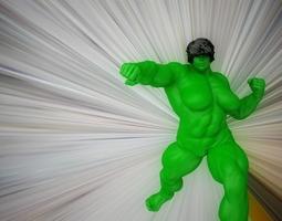 animated female hulk 3d model