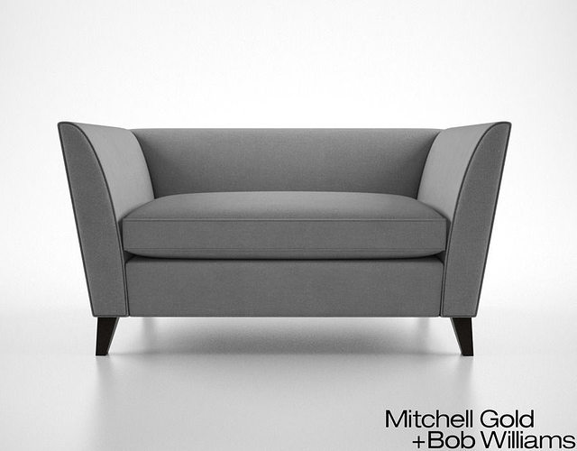 Mitchell Gold and Bob Williams Mona Sofette 3D model MAX OBJ FBX DWG MTL