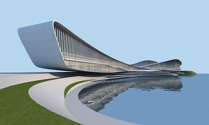streamlined architecture 3d model max obj mtl fbx tga 1