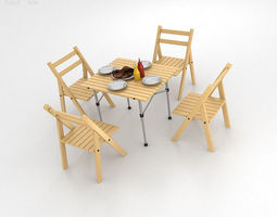 barbecue table 3d