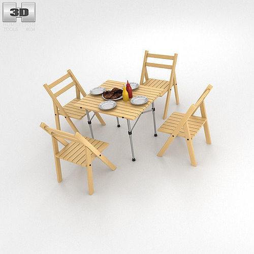 barbecue table 3d model max obj 3ds fbx c4d lwo lw lws 1
