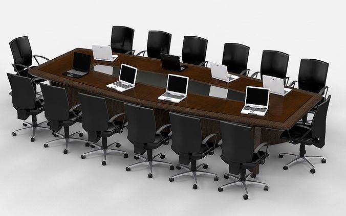meeting table king 3d model obj 3ds fbx c4d 1