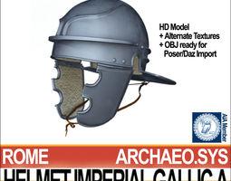 roman legionary helmet imperial gallic a 3d model