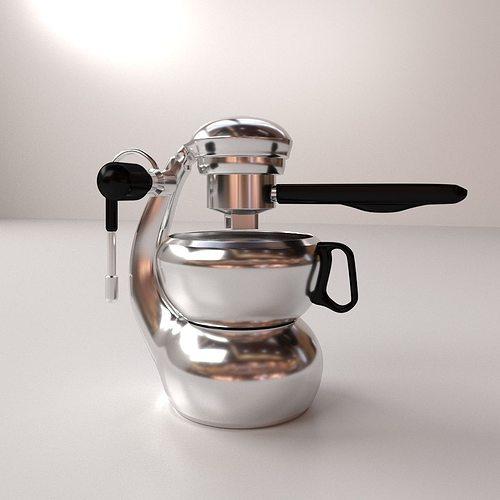espresso maker 3d model 3ds fbx blend dae 1