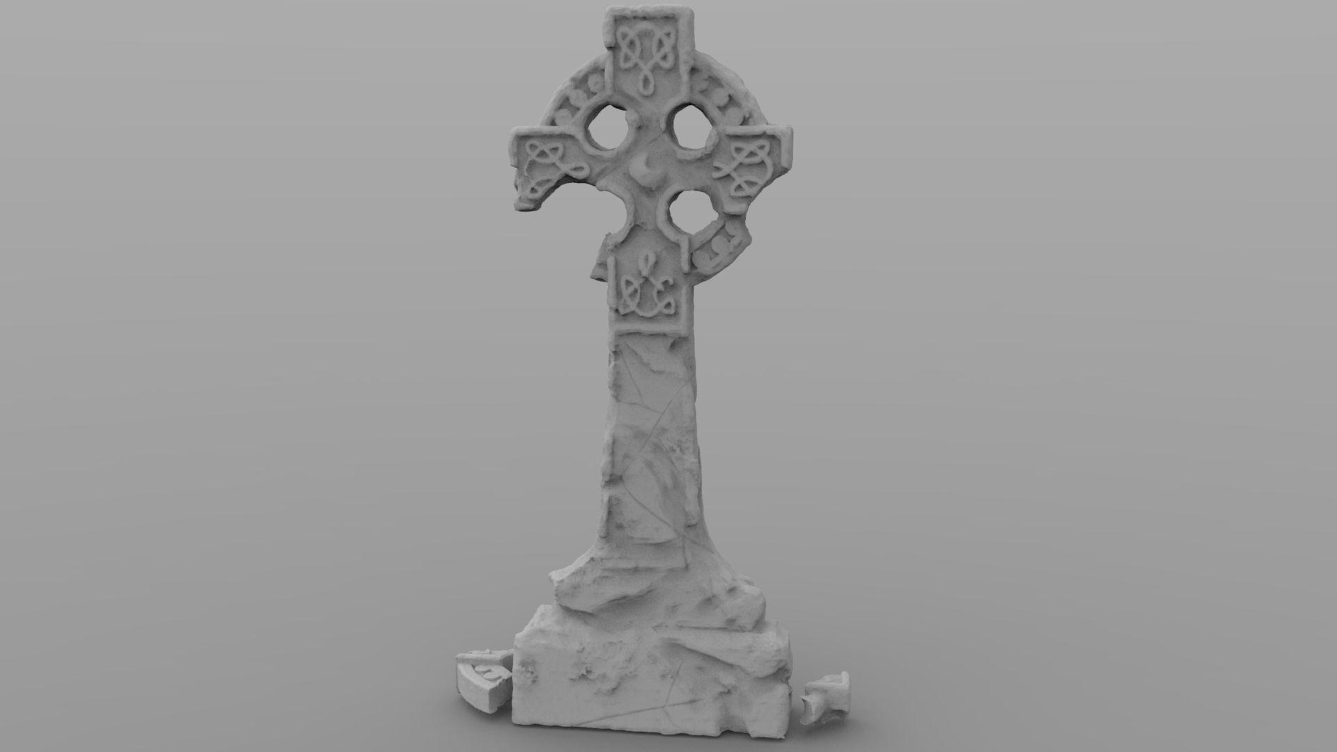 Weathered Celtic Headstone