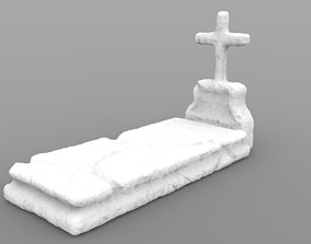 3D printable model Weathered Grave With Tombstone