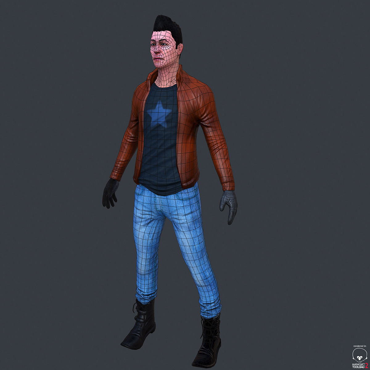 Character Low Poly Modeling For Game Free 3D Model OBJ