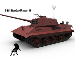 3d model rigged e-75 standardpanzer ii