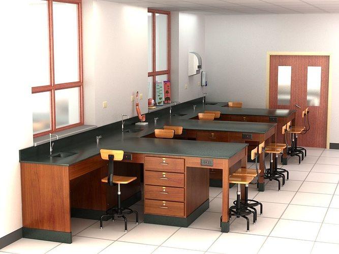 science laboratory 01 3d model max obj mtl 3ds fbx c4d lwo lw lws 1