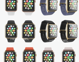 Apple Watch Edition Collection Gold 3D Model