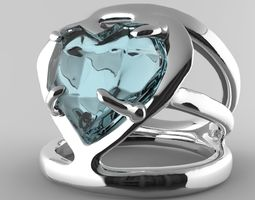 3D print model Heart Shaped Ring stone