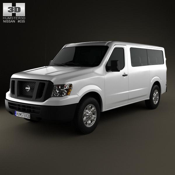 Nissan Nv Passenger Van Standard Roof 2013 3d Model Max