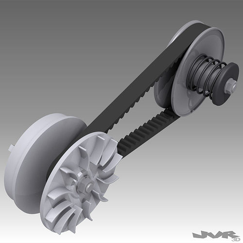 cvt - small continuously variable transmission 3d model max obj 3ds fbx mtl pdf 1