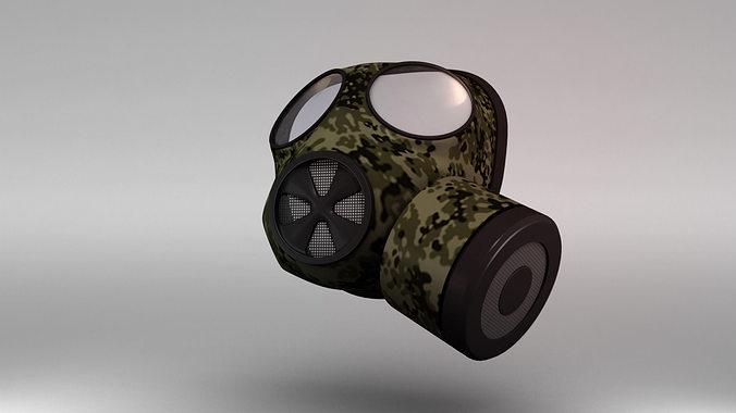 gas mask 3d model obj mtl fbx ma mb 1