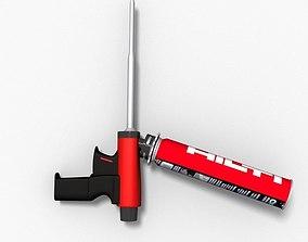 3D model Hilti Foam Gun