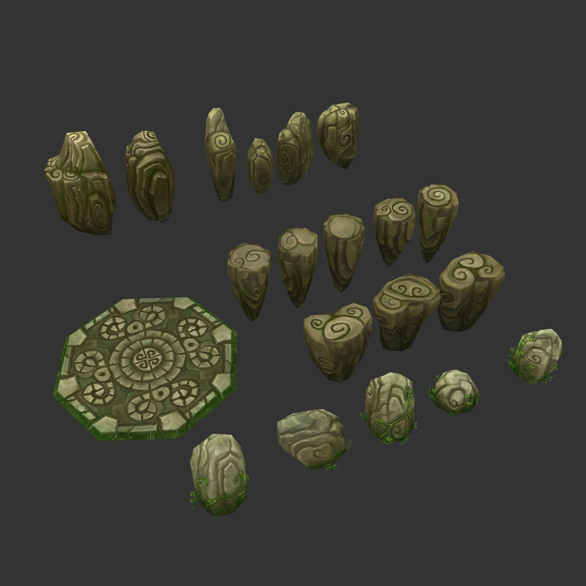 Floating Islands Fantasy Environment Pack D Model Fbx
