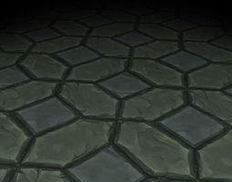 Stone Floor Texture Tile 3D