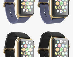 Apple Watch Edition Gold Classic Leather All Color 3D Model