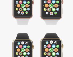 Apple Watch Edition Yellow Rose Gold Sport All Color 3D Model