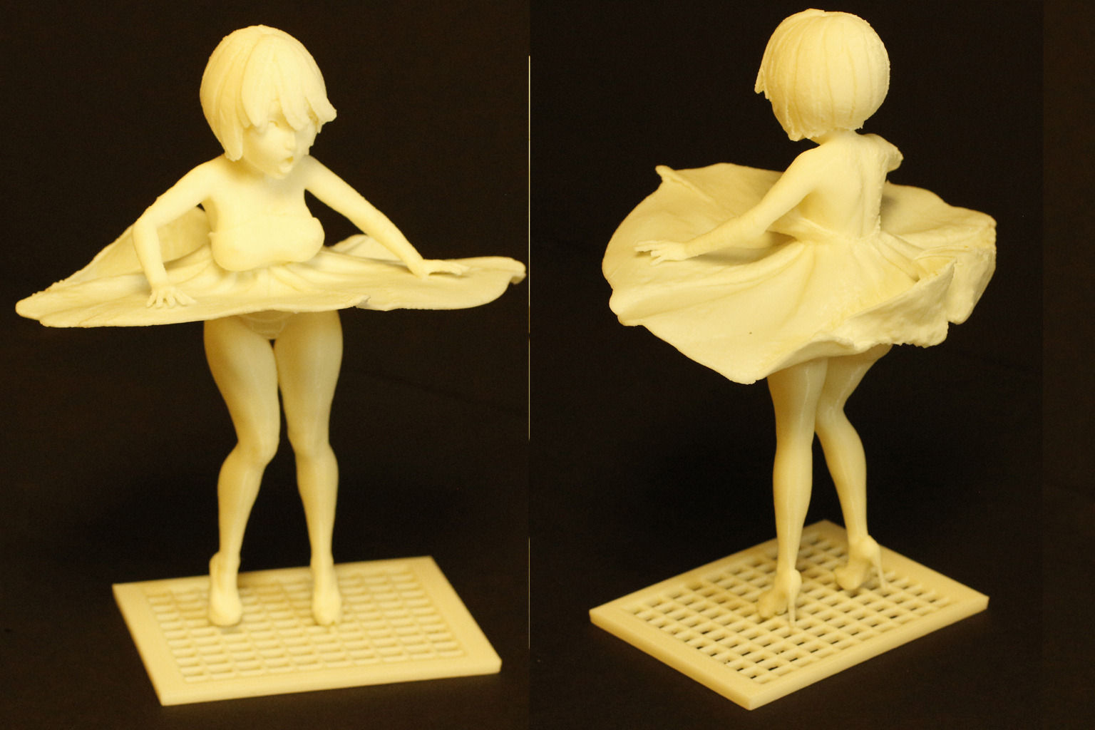 photo regarding Free 3d Printable Miniatures identified as Skirt Blow-Up Anime Miniature 3D Print Design and style