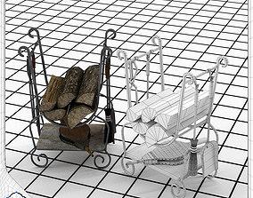 3D Fireplace Tool Set