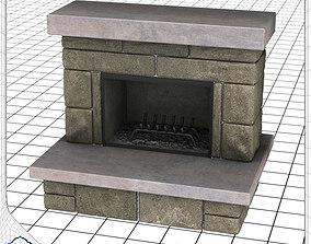 3D model Stone Fireplace