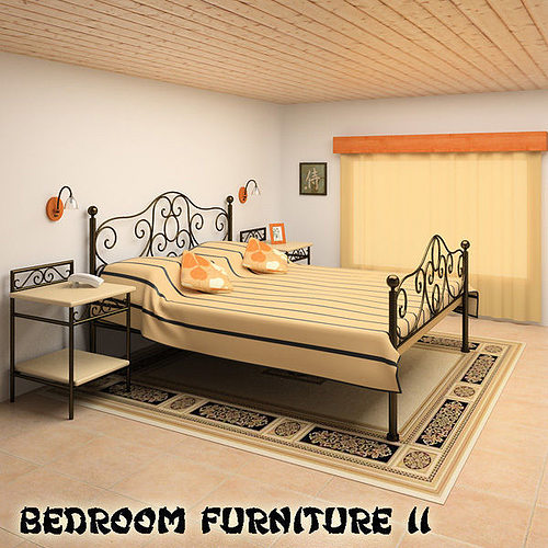 3d Model Bedroom Furniture 11 Set Cgtrader