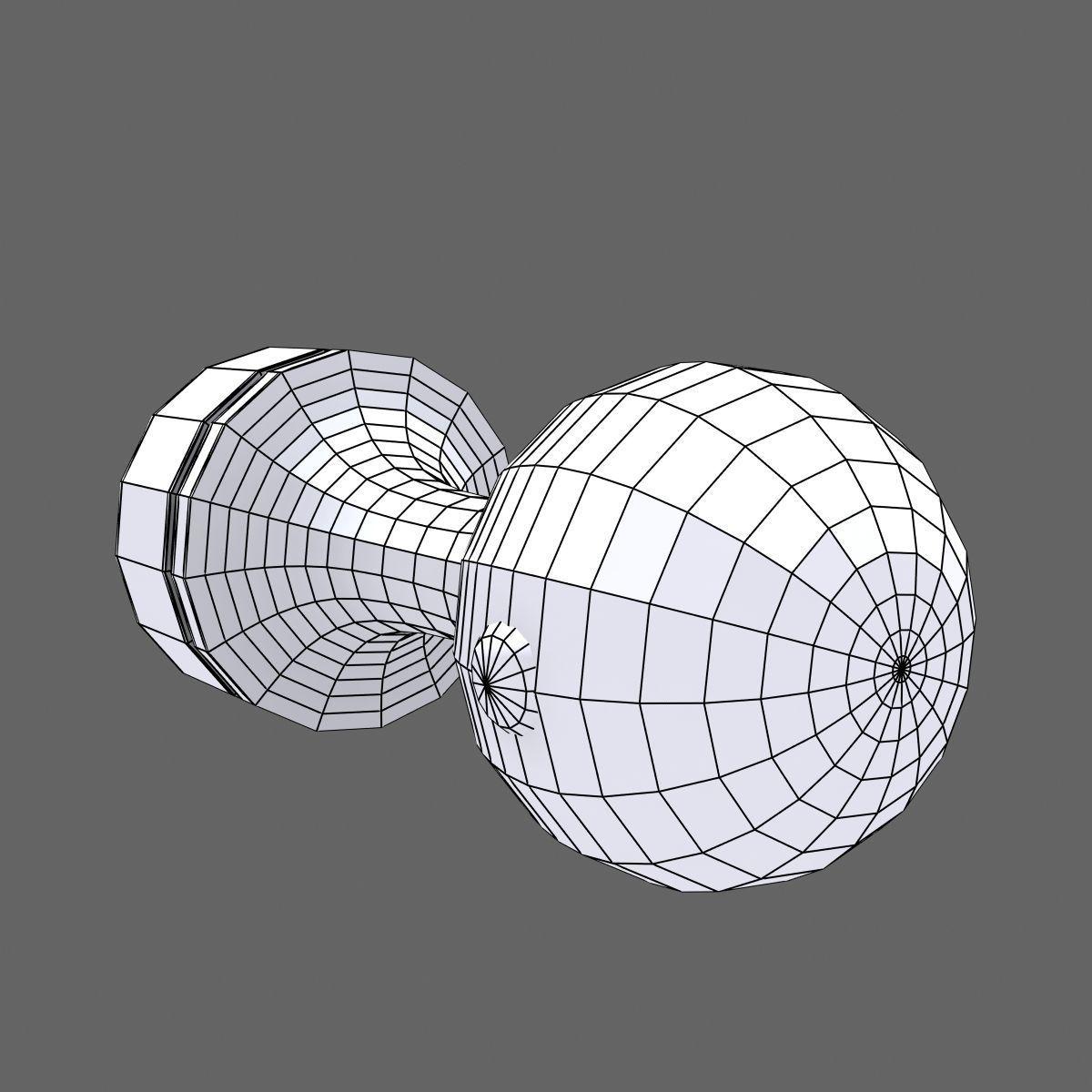 Rubber Stamp Circle 3D Model MAX OBJ