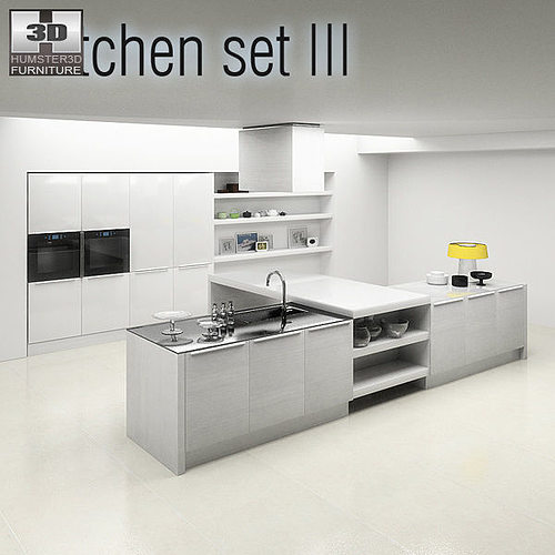 Kitchen Set P3 3D model   CGTrader