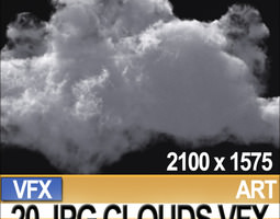 3d visual fx 20 jpg maps clouds for alpha-planes compositing