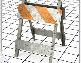 Type II Construction Barricade 3D model