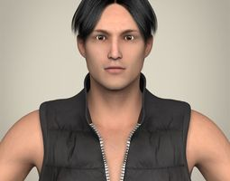 Realistic Young Handsome Man 3D Model