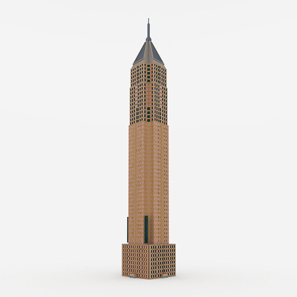 Bank of America Plaza 3D Model OBJ 3DS MTL PDF : CGTrader.com