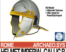 roman legionary helmet imperial gallic b 3d